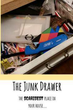 We have a junk drawer, that is. Truth told, it scares me. Organization, cleaning and home-keeping remain goals...elusive goals.