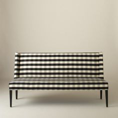 Lenox Bench -Windowpane Plaid