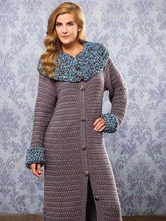Crochet a winter style coat or sweater pattern