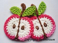 Appel - rosentraum - Crocheted Applique