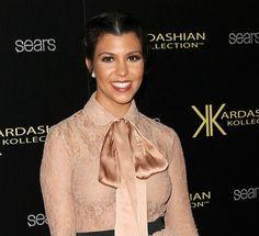 Kourtney Kardashians school-girl updo