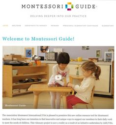 New site from Association Montessori International of the United States (AMI/USA) with lots of Montessori video inspiration montessori video, montessori info, type montessori, teach montessori preschool, teacher, montessori educ, montessori guid