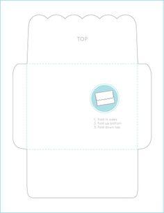 Scalloped-Edge EnvelopeTemplate