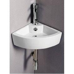 misc stuff, kitchens, small bathroom, hang sink, ec9808 porcelain, sinks, corner sink, wallmount corner, porcelain white