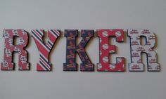 St. Louis Cardinals Inspired Letters-Baseball letters-Personalized Decorative Wall Letters