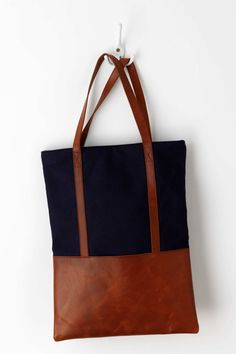 Leather Panel Tote | Anthropologie