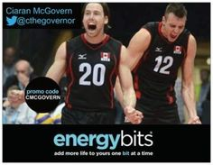 "CIARAN MCGOVERN: Ciaran is a Canadian born professional volleyball player who plays in Germany for SWD Powervolleys and Canada! ""After trying ENERGYbits I am excited to add an all natural food to my diet and routine. The product is unique, healthy and can be used by a variety of different people. I will use BITS before matches and practices to stay focused and stay away from the dreaded energy crash that athletes never want during or after."""