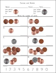 Counting Coins worksheets (Donna Young)