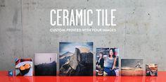 Custom-Printed Ceramic Photo Tile