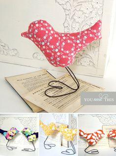 DIY fabric bird