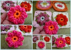 Bobble flower granny square
