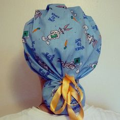 Looney tunes bugs bunny scrub hat! This would be a great gift for a nurse, CRNA, surgeon, doctor, chef etc
