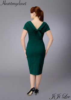 Elise rockabilly vintage inspired dress 40s 50s by heartmycloset, $88,00