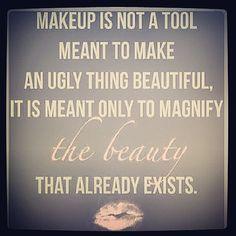 makeup is art, girl, beauti enhanc, to much makeup quotes, makeup artist