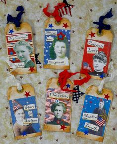Lovely Ladies Patriotic Americana Tags