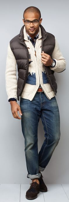 men styles, men's fall fashion, fashion styles, outfit, casual styles, tommy hilfiger, christmas sweaters, winter fashion, men wear