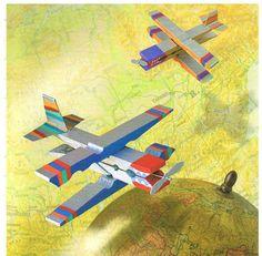 Vliegtuig van wasknijpers / Manualidades