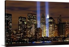 The Tribute in Light memorial, absolutely want in my future home one day!