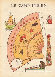 Printable Native American Camp