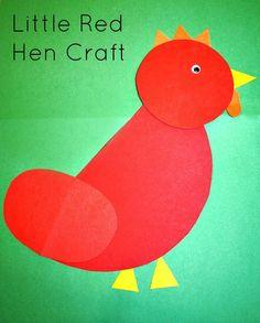 Little Red Hen Craft...simple shape craft for preschoolers
