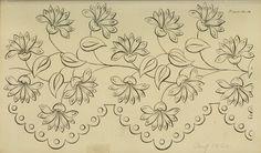 regency embroidery pattern.