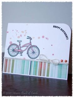 Birthday Bike by housesbuiltofcards - Cards and Paper Crafts at Splitcoaststampers