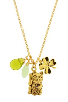 Lucky Cat Charms Necklace