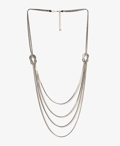"F21 Layered infinity knot necklace, 30.25"" $12.80"