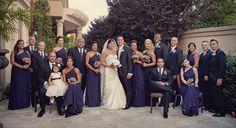 Beautiful full-length purple bridesmaid dresses