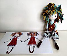 ANACARDIA atelier: As bonecas da Cecília Anacardia Atelier, Clothing Dolls, Hello Dolly, Dolls Handmade, Dolls Walks Upright, Rag Dolls, Muñecas Tela, Baby Dol, Dolls Softies Plush