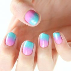 gradient blue to pink