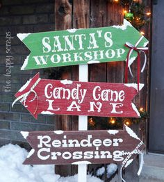Cute Christmas Front Porch Sign - could easily make this a DIY project.