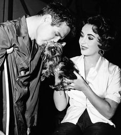 Paul Newman and Elizabeth Taylor on the set of Cat on a Hot Tin Roof