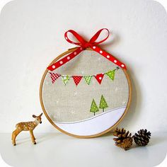 Embroidery Hoop Applique