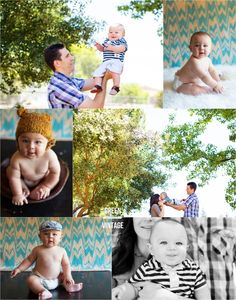 natural light studio and outdoor family pictures, 9 month baby pictures | Green Vintage Photography