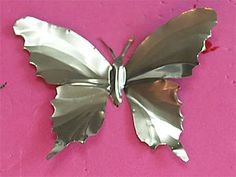 tutorial for making soda can butterflies