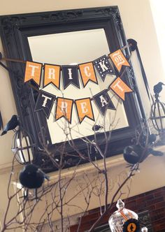 Bewitching Happy Halloween and Trick or Treat by FrogPrincePaperie Etsy