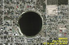 Endangered Earth Sinkholes Winter Park, Florida.  Sinkholes perplex and scare me. Is the earth meant to do this?