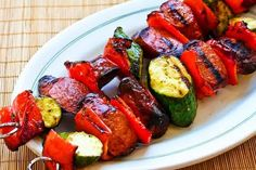 World's Easiest Zucchini and Sausage Kabobs