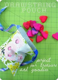 drawstring pouch tutorial