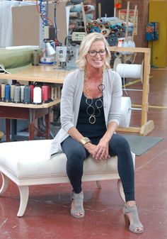Take two! A behind the scenes look at the new Candice Olson upholstery collection- love the base on the Caine ottoman.