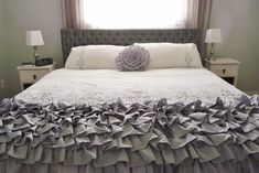 KingSize Ruffled Throw by metzinteriors on Etsy, $200.00