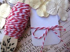 Twine to hang mini banner or hang mini card from