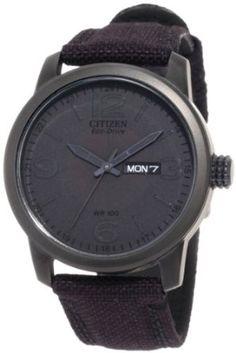 Citizen Mens BM8475-00F  Black Canvas Strap Eco Drive Watch