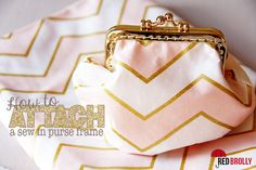 How to attach a sew in purse frame