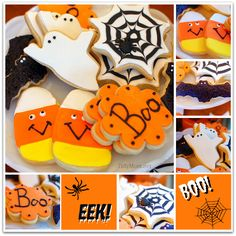 #Halloween Butter #Cookies with Royal Icing and Fondant at TidyMom.net