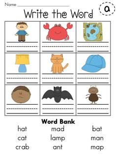 Entire year set of Write the Word worksheets for every sound! Over 30 sounds!
