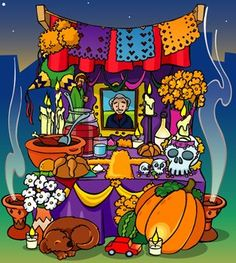 ALTAR DÍA DE MUERTOS: info y dos videos  http://theosmx.blogspot.com/2008/11/altar-da-de-muertos.html