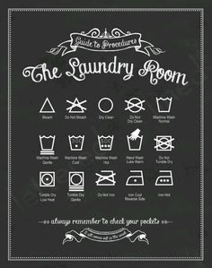 Laundry room sign/laundry guide
