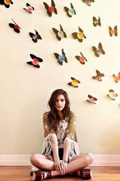 DIY record butterflies!